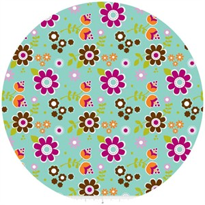 Carly Griffith, Little Matryoshka, Floral Aqua