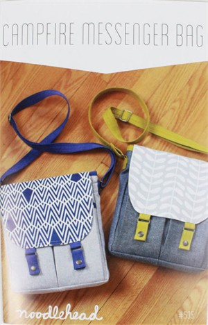 Noodlehead, Sewing Pattern, Campfire Messenger Bag