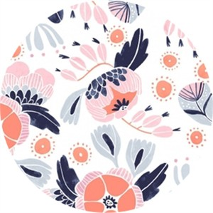 Rae Ritchie for Dear Stella, Trail Mix, Camping Floral White