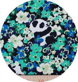 Cosmo Textiles, CANVAS, Pandamonium Aqua