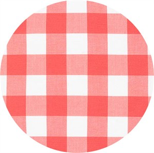 "Robert Kaufman, Carolina Gingham 1"", Coral"
