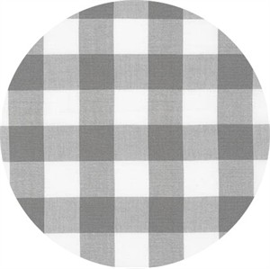 "Robert Kaufman, Carolina Gingham 1"", Grey"