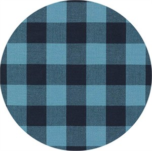 "Robert Kaufman, Carolina Gingham 1"", Indigo"
