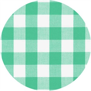 "Robert Kaufman, Carolina Gingham 1"", Jade"