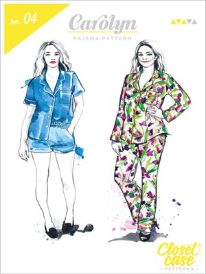 Closet Case, Sewing Pattern, Carolyn Pajamas