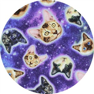 Timeless Treasures, Cat Heads in Space Galaxy