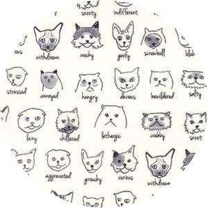 Erin Michael for Moda Fabrics, Meow or Never, Catatude Milk