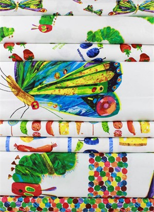 Eric Carle for Andover, The Very Hungry Caterpillar in FAT QUARTERS 8 Total