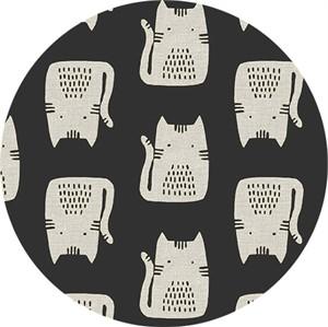 Sarah Golden for Andover, Maker Maker LINEN, Cats Black