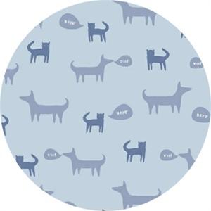 Windham Fabrics, Neighborhood, Cats and Dogs Light Blue