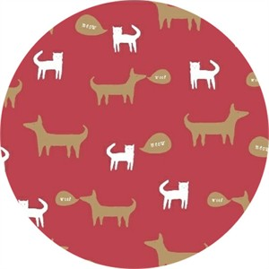 Windham Fabrics, Neighborhood, Cats and Dogs Red