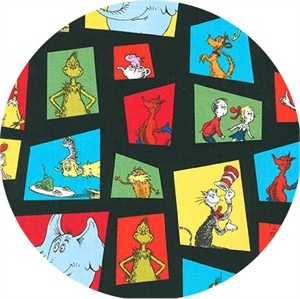 Robert Kaufman, Celebrate Seuss 4, Character Block Black