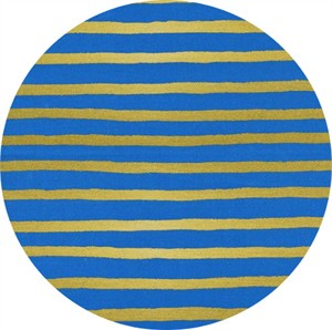 Rifle Paper Co. for Cotton and Steel, Wonderland, Cheshire Stripe Cobalt Metallic