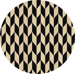 Quilting Treasures, Laredo, Chevron Geometric Black