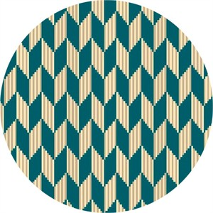Quilting Treasures, Laredo, Chevron Geometric Dark Teal