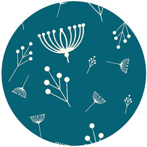 Charley Harper for Birch Fabrics Organic, Twigs Teal
