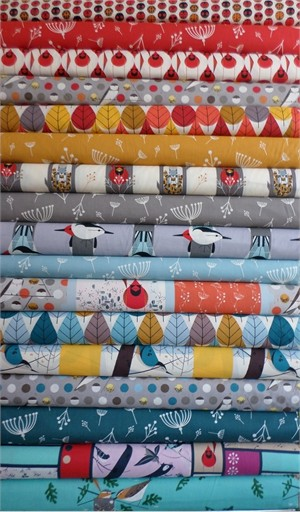 Charley Harper for Birch Fabrics Organic, Entire Collection in FAT QUARTERS 15 Total