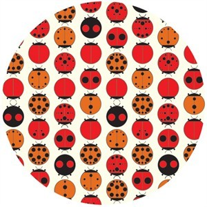 Charley Harper for Birch Fabrics Organic, KNIT, Lady Bugs