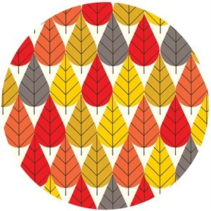 Charley Harper for Birch Fabrics Organic, KNIT, Octoberama Fall