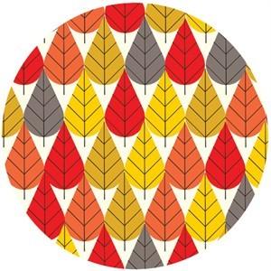 Charley Harper for Birch Fabrics Organic, KNIT, Octoberama Fall