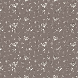 Charley Harper for Birch Fabrics Organic, KNIT, Twigs Shroom