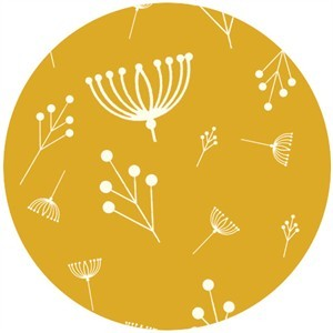 Charley Harper for Birch Fabrics Organic, KNIT, Twigs Sun