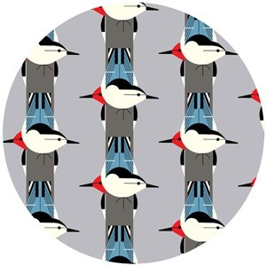 Charley Harper for Birch Fabrics Organic, KNIT, Upside Downside