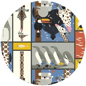 Charley Harper for Birch Fabrics Organic, Nurture, Zoo Babies