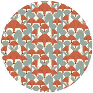 Charley Harper for Birch Fabrics Organic, Nurture, CANVAS, Foxsimilies