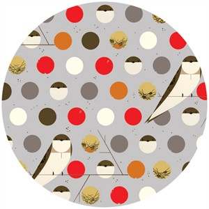 Charley Harper for Birch Fabrics Organic, Bank Swallow Fall
