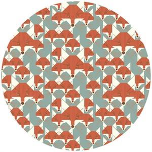 Charley Harper for Birch Fabrics Organic, Nurture, KNIT, Foxsimilies