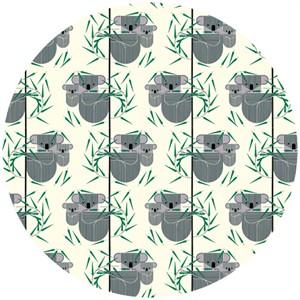Charley Harper for Birch Fabrics Organic, Nurture, KNIT, Koala Koala
