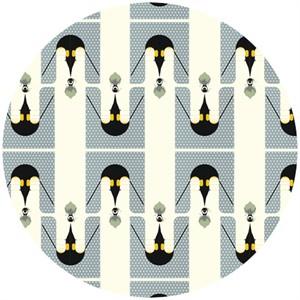 Charley Harper for Birch Fabrics Organic, Nurture, FLANNEL, Brrrthday