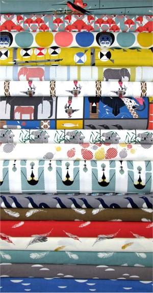 Charley Harper for Birch Organic Fabrics, Nurture in FAT QUARTERS 15 Total
