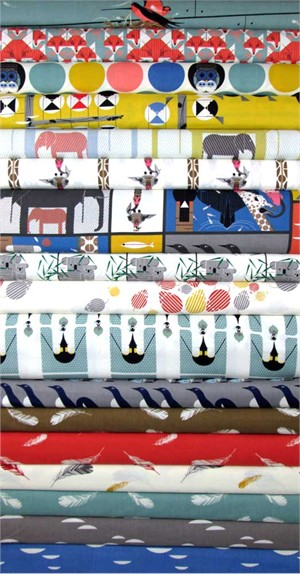 Charley Harper for Birch Organic Fabrics, Nurture 15 Total