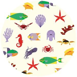 Charley Harper for Birch Organic Fabrics, Maritime, KNIT, Maritime Main