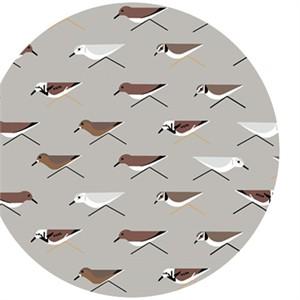 Charley Harper for Birch Organic Fabrics, Maritime, DOUBLE GAUZE, Sanderlings