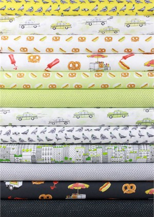 Alicia Jacobs for Ink & Arrow, City Life in FAT QUARTERS 10 Total