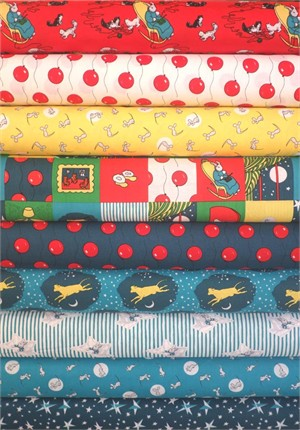 Cloud 9 Organic Fabric, Goodnight Moon in FAT QUARTERS 9 Total