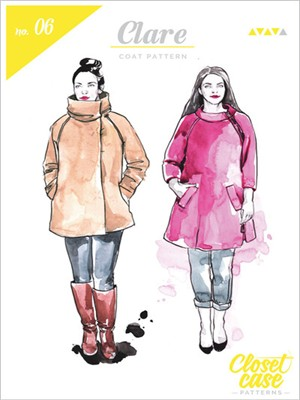 Closet Case, Sewing Pattern, Clare Coat