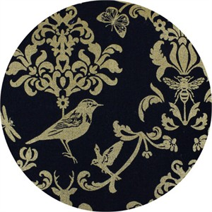 Echino, CANVAS METALLIC, Classic Animals Black/Gold
