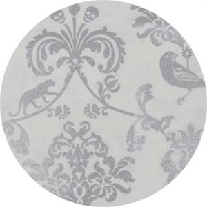 Echino, CANVAS METALLIC, Classic Animals White/Silver