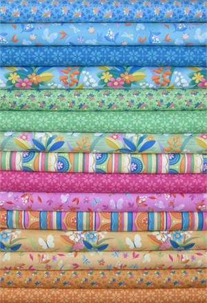 Clothworks, Blossom Bliss in FAT QUARTERS 15 Total