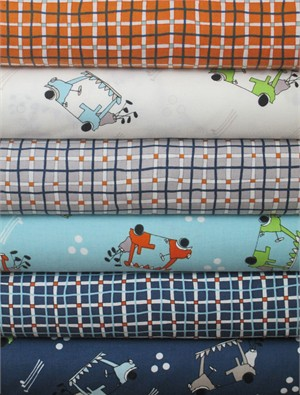 Clothworks, A Hole in One in FAT QUARTERS 6 Total