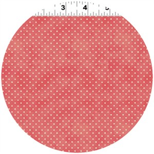 Clothworks, Hullabaloo, Extra Small Dot Coral
