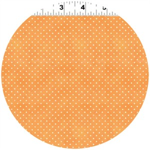 Clothworks, Hullabaloo, Extra Small Dot Tangerine