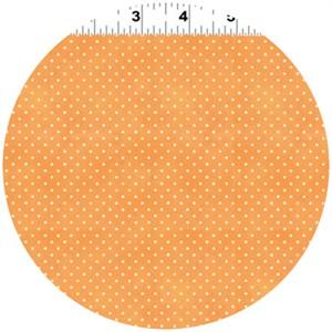 Clothworks, Hullabaloo, Extra Small Dot Tangerine
