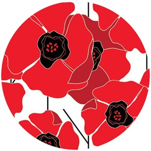 Clothworks, Poppy Passion, Poppies Red