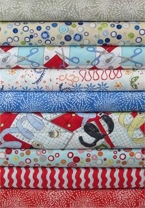 Clothworks, Sew Fun! in FAT QUARTERS 9 Total