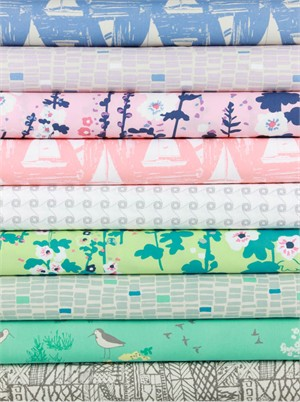 Sharon Holland for Art Gallery, Coastline in FAT QUARTERS 9 Total